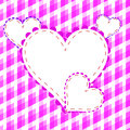 Valentines day beautiful background with ornaments and heart place for your text Royalty Free Stock Photo