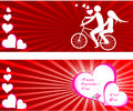 Valentines day beautiful background with ornaments and heart place for your text Royalty Free Stock Photography