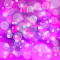 Valentines day blurred bokeh background with hearts Royalty Free Stock Photo