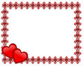 Valentines Day Border Hearts Stock Images