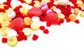 Valentines Day candy background Royalty Free Stock Photos
