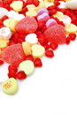 Valentines Day candy border Royalty Free Stock Photography