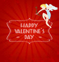 Valentines day card with cupid Royalty Free Stock Photo