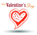 Valentines day card happy illustration Royalty Free Stock Photography