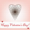 Valentines day card heart from thread Stock Photos