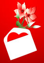 Valentines day card or letter Royalty Free Stock Image