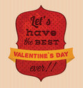 Valentines day card with message Royalty Free Stock Images