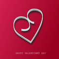 Valentines day card red hearts Stock Image