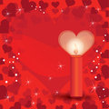 Valentines day card vector illustration of a background Stock Photo