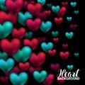 Valentines Day Card With Volum...