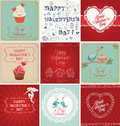 Valentines day cards collection with different themes Royalty Free Stock Photos
