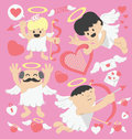 Valentines day cartoon cupid illustration cartoons concepts Royalty Free Stock Photos