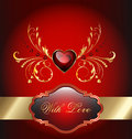 Valentines day celebration card Stock Photography