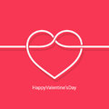 Valentines day concept design vector background