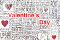 Valentines day concept for greeting card or background Stock Image
