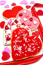 Valentines Day cookies Royalty Free Stock Photography