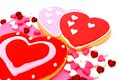 Valentines day cookies group of and candy Royalty Free Stock Images