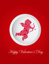 Valentines Day Cupid Dots Greeting Card Stock Photos