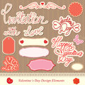 Valentines day design elements Stock Photo