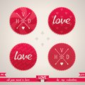 Valentines day design elements set of for vector illustration eps Royalty Free Stock Image