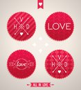 Valentines day design elements set of for vector illustration eps Stock Photography