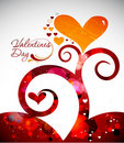 Valentines day floral background Stock Image