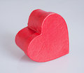 Valentines day gift box heart shaped on gray background Stock Photography