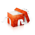 Valentines day gift box vector illustration of a Stock Images