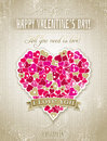 Valentines day greeting card with heart and wish wishes text vector illustration Royalty Free Stock Photos