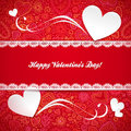Valentines day greeting card with hearts Stock Photo