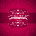 Valentines day greeting card with hearts and wis red wishes text vector illustration Royalty Free Stock Photography