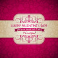 Valentines day greeting card with hearts and wis wishes text vector illustration Royalty Free Stock Photo