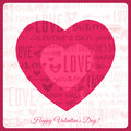 Valentines day greeting card with red heart and wi wishes text vector illustration Stock Photos