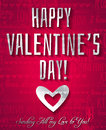 Valentines day greeting card with silver text ve vector illustration Royalty Free Stock Image
