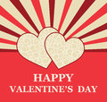 Valentines day greeting card vector background Stock Photos