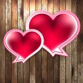Valentines day with heart on wood eps background and also includes Stock Photography