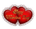 Valentines Day Hearts Graphic 3D Royalty Free Stock Photos