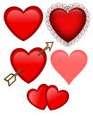 Valentines day Hearts Graphics Isolated Stock Images