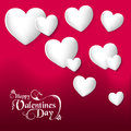 Valentines day hearts love greeting card happy valentine s heart elements composition eps file organized in layers for easy Stock Photos