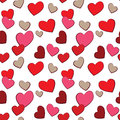 Valentines Day Hearts Love  pattern Stock Images