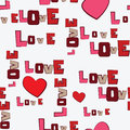 Valentines Day Hearts Love  pattern Royalty Free Stock Images