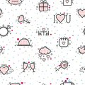 Valentines day icons vector heart in love and lovely red sign on hearted celebration and greeting card with loving and