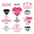 Valentines Day Label and Ribbon Collection illustration - Vector