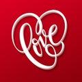 Valentines Day Lettering Love. Vector illustration