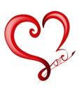 Valentines day logo shiny love heart Stock Images