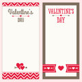 Valentines day menu or invitation designs in red a set of hipster background for shopping list pad templates Royalty Free Stock Photos