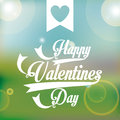 Valentines day over pattern background vector illustration Stock Photography