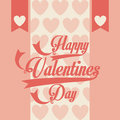 Valentines day over pink background vector illustration Royalty Free Stock Images