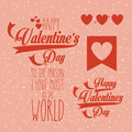 Valentines day over pink background vector illustration Royalty Free Stock Photo