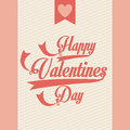 Valentines day over pink background vector illustration Stock Photo